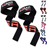 EMRAH Weight Lifting Straps Cotton Webbing Wrist Wraps Strengthen Training Workout Exercise Fitness Straps
