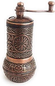 BION Pepper Mill, Spice Grinder, Pepper Grinder for pepper, Coriander, Cardamom, Mustard, Cumin, Sumac, Rice, Grinder, Turkish Grinder 4.2'' (Antique Copper)