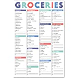 """Sweetzer & Orange FastCheck Grocery List Magnet Pad for Fridge. 6x9"""" Magnetic Notepad with Printed Shopping List Items and Bl"""