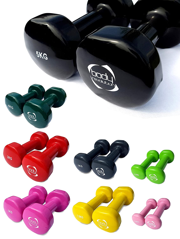 Body Revolution - Par de mancuernas de vinilo para gimnasio en ...
