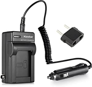 Kastar Replacement Battery Charger with Car Adapter for HP PhotoSmart R742 R742v R742xi and HP LI40 Q6277A Q2232-80005 Cameras