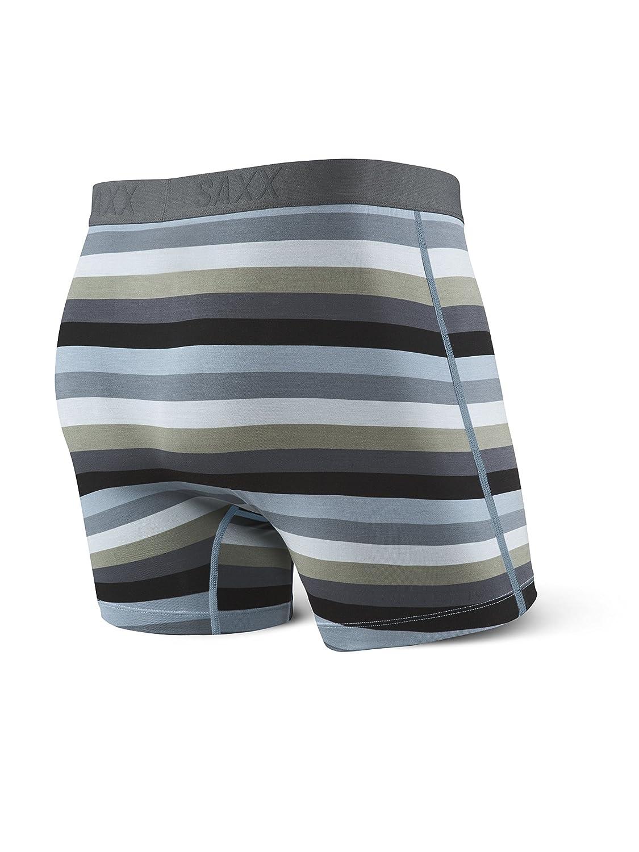 6a0a7b14189 Saxx Men s Underwear Ultra Boxer Fly Underwear Small Dark Charcoal Stripe  at Amazon Men s Clothing store
