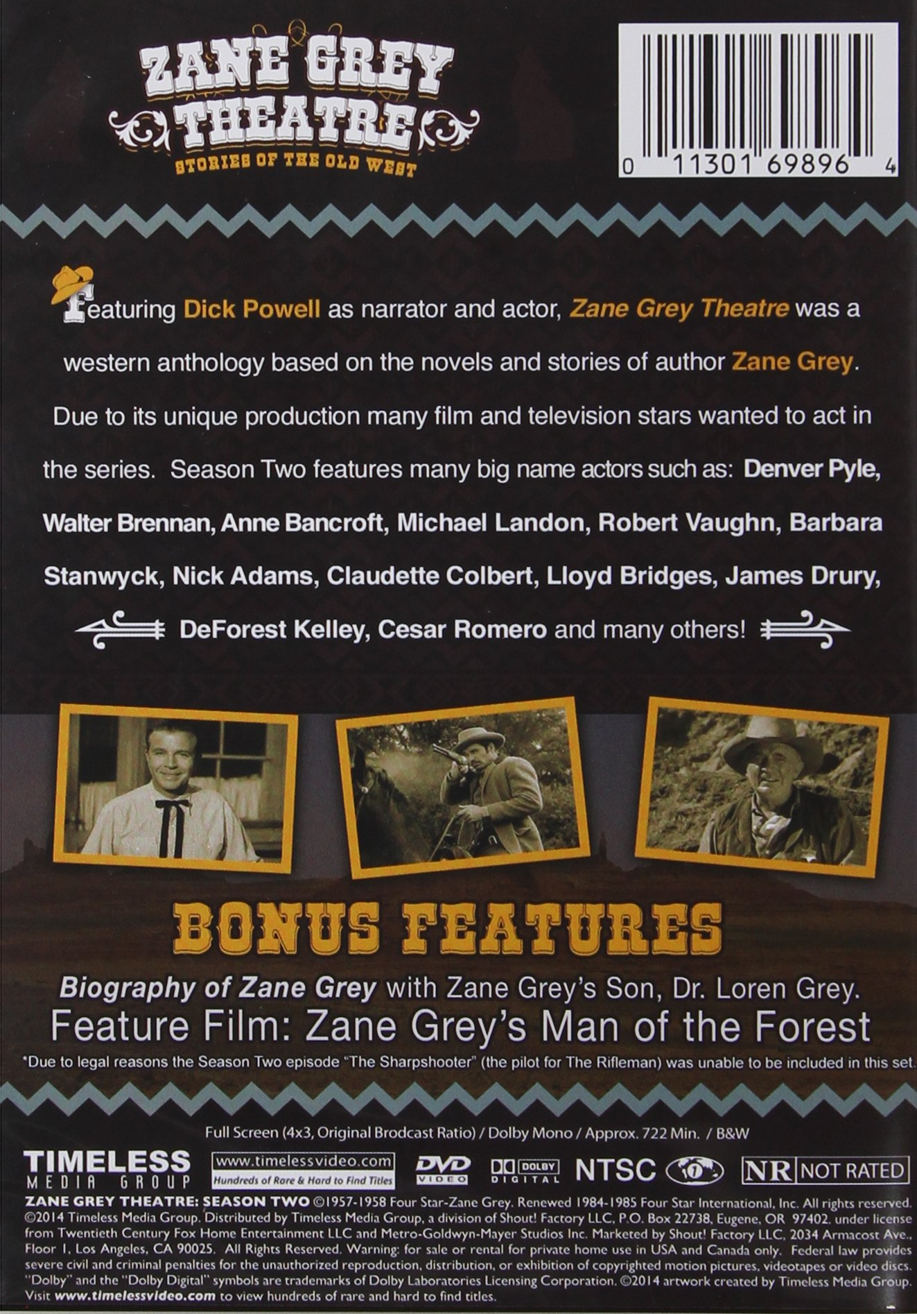 Zane Grey Theater: Season 2 by TIMELESS MEDIA GROUP