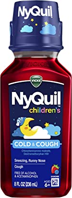 Vicks NyQuil Children's, Nighttime Cold & Cough Multi-Symptom Relief, Relieves Sneezing,