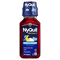 Vicks Children's NyQuil Cold and Cough Multi-Symptom Relief, 8 fl oz (Cherry Flavor) - Relieves Sneezing, Runny Nose, Cough