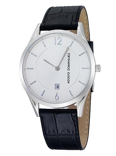 94156ca90310 Adolfo Dominguez Watches 53002 - Reloj de Caballero cuarzo piel Negro   Amazon.es  Relojes