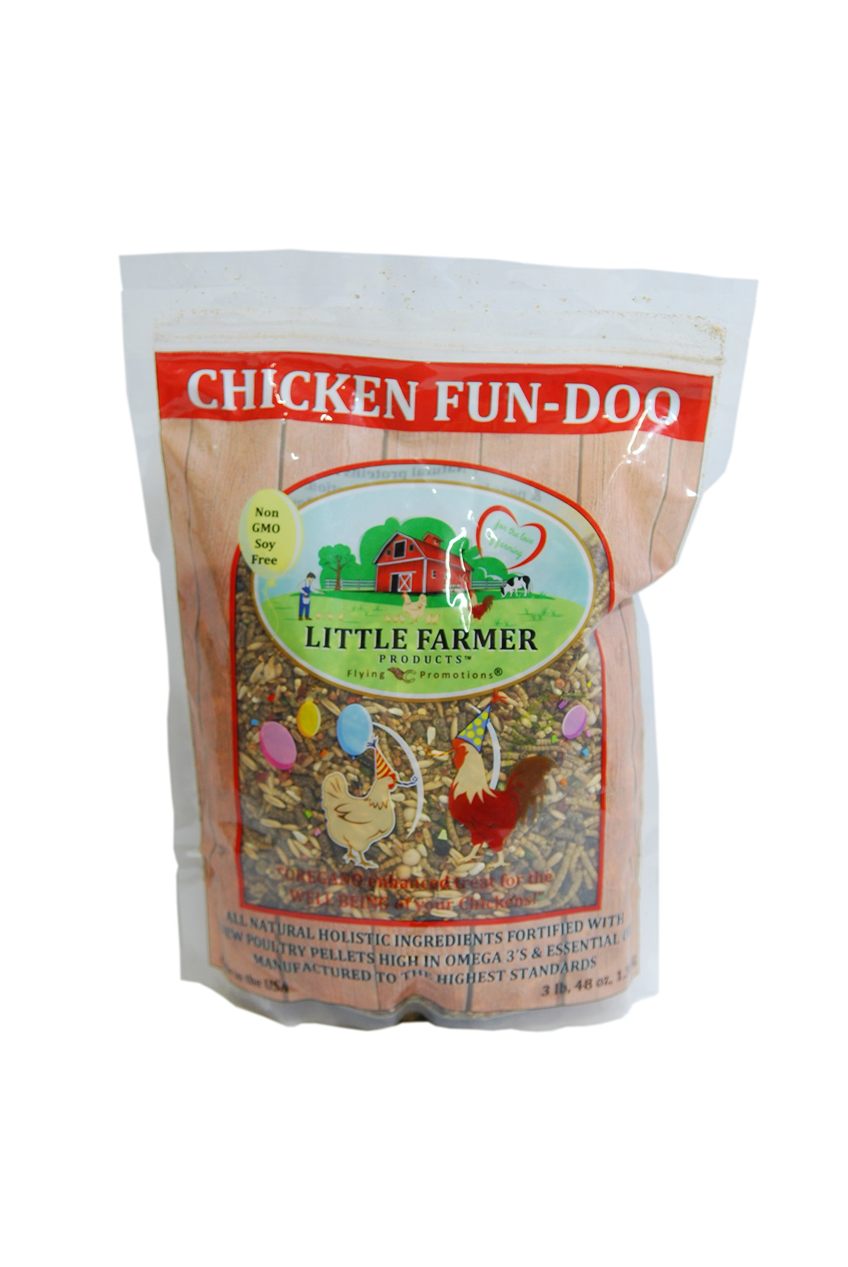 LITTLE FARMER PRODUCTS Chicken FUN-DOO Non-GMO, Soy-free Chicken Treat | Premium Poultry Meal Worm, Vegetable & Herb Mix (3 lbs) by LITTLE FARMER PRODUCTS