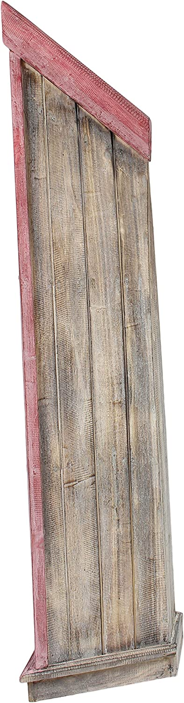 Oriental Galerie Regal in Bootsform Badregal Bootsregal Boot Regal B/ücherregal B/ücherschrank Standregal Aufbewahrung 195 cm Albesia Holz Braun Blau
