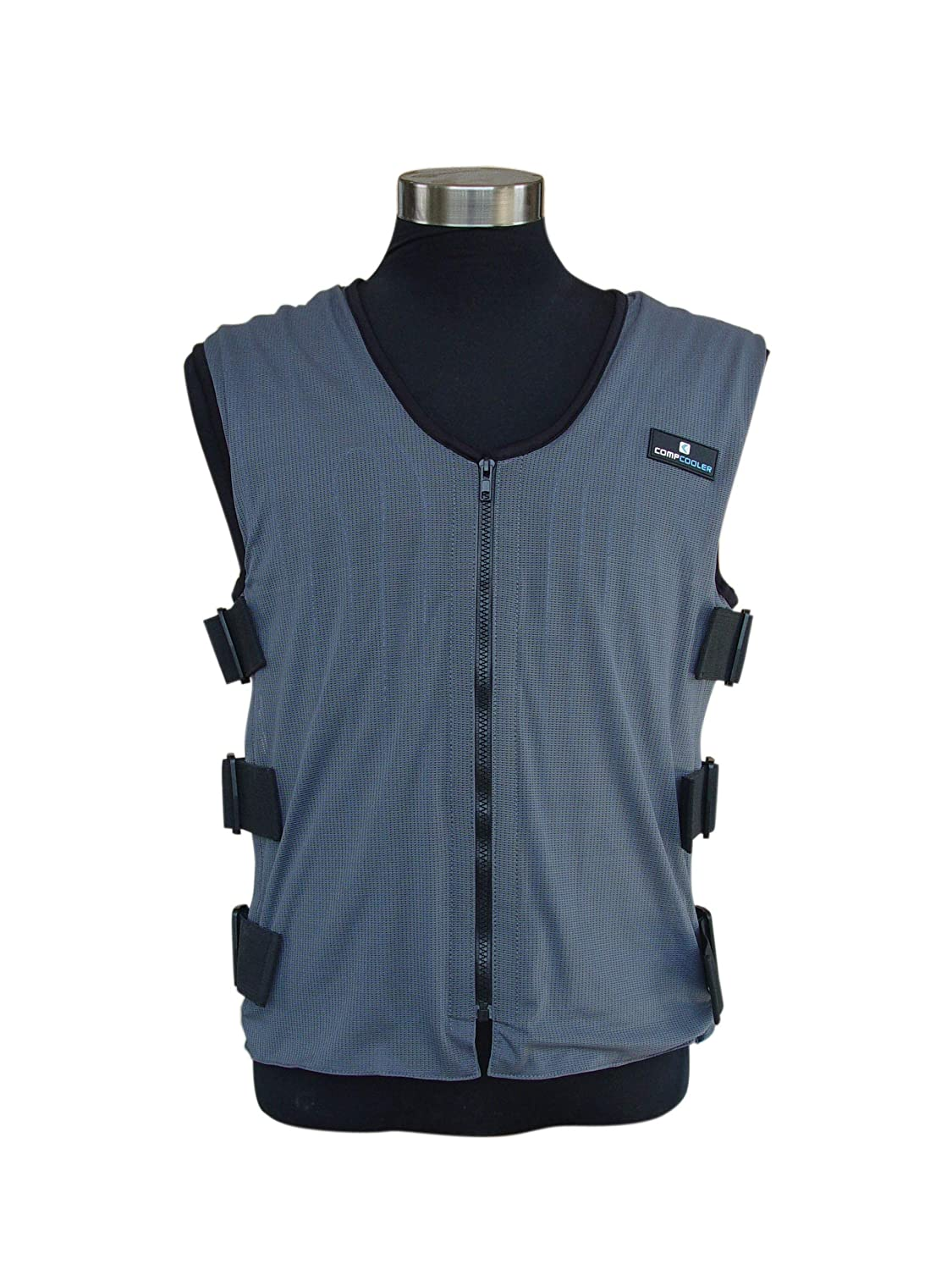 Compcooler Liquid Cooling Vest, Blue Mesh Fabric, Black Mesh Liner, Water Circulation Cooling Vest, Reversible Application