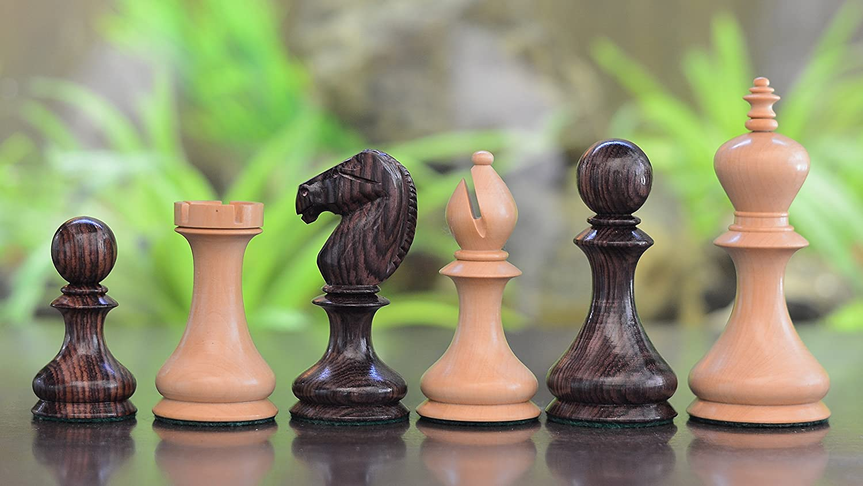 Chessbazaar Reproduziert Antique Serie Dublin Pattern Schachfiguren in Rose & Schachtel Wood