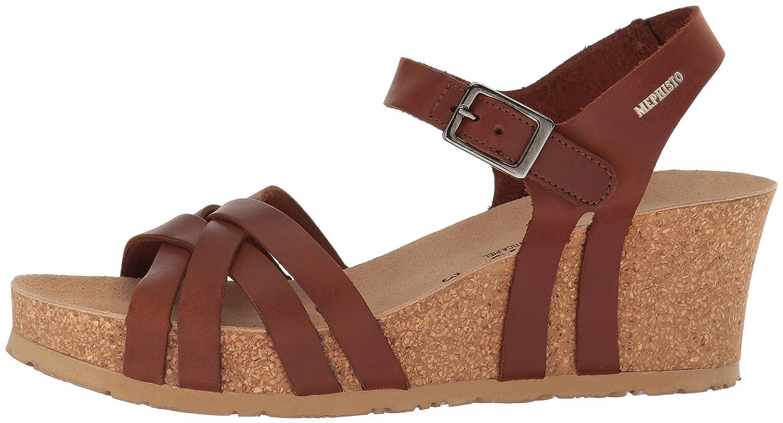 Mephisto Women's Lanny Wedge Sandal B01KYKCFY4 11 B(M) US|Chestnut Scratch