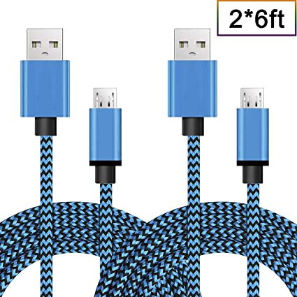 Amazon.com: Cable Micro USB Android Cargador Durable nylon ...