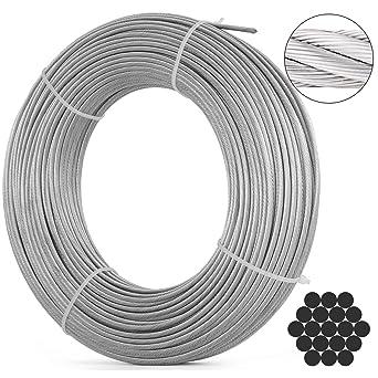 Amazon.com: BestEquip T316 - Cuerda de alambre de acero ...