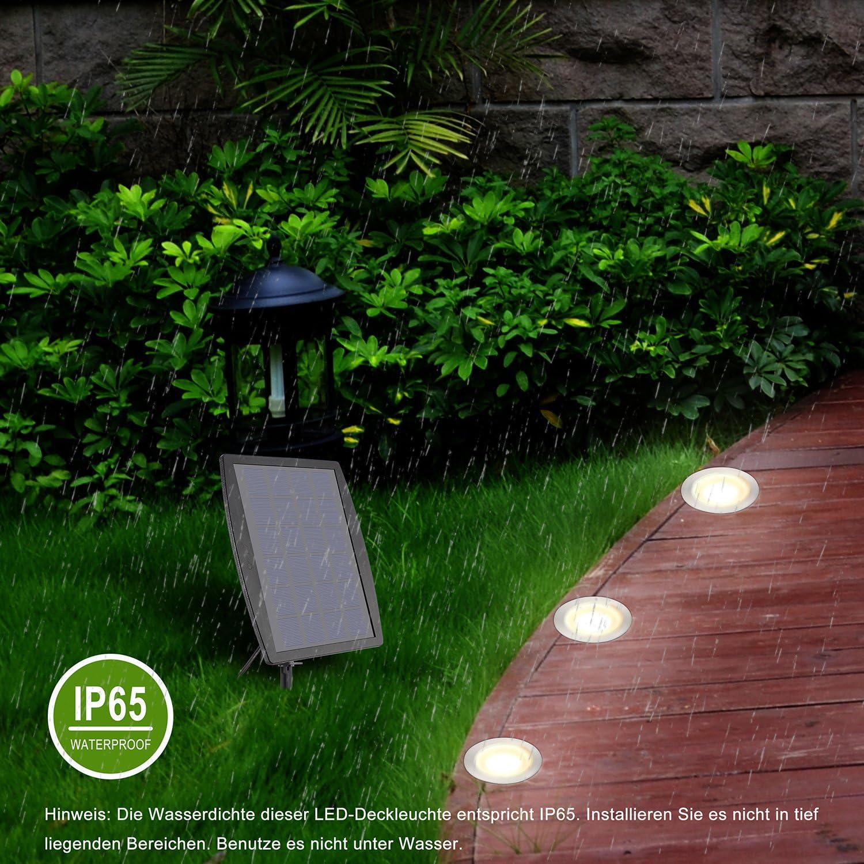 IP65 Wasserdichte Solarlampe Wei/ß Led Leuchten Energiesparend Gartenbeleuchtung f/ür Boden Garten Rasen Solarlicht f/ür Au/ßEn Aus Edelstahl Solarleuchte Garten 12 St/ück Solar Gartenleuchte