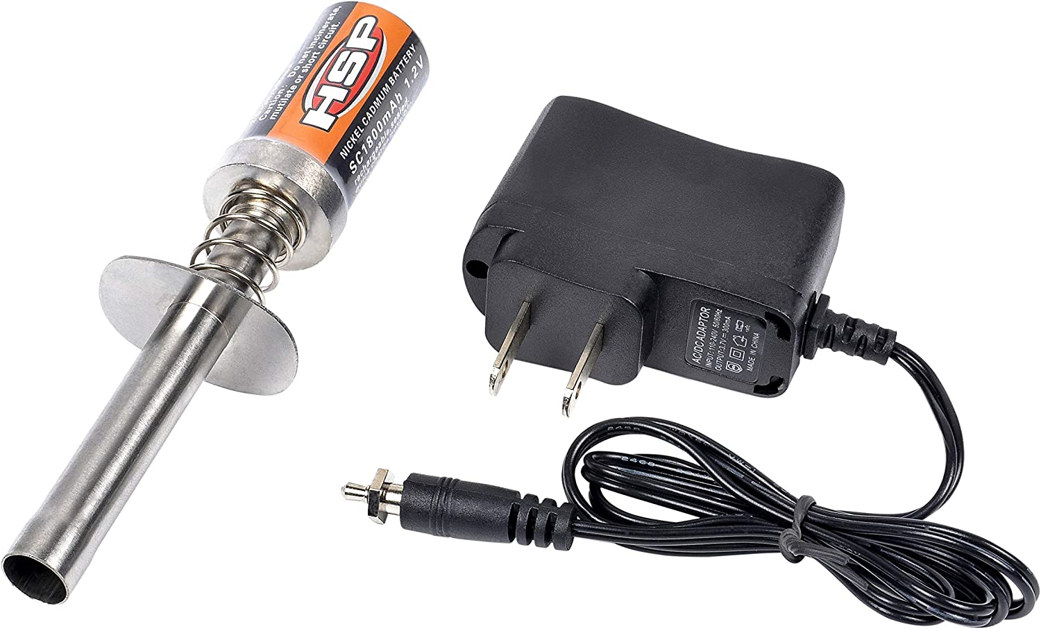 2 Pieces Glow Plug Ignitor Igniter RC Car Engine Starter Tools Support AA Batteries Compatible with Nitro Engine RC Car Buggy Truck Model Plane
