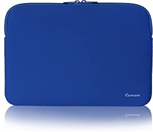 """Carecase 15.6 Inch Laptop Sleeve Protective Case Soft Carrying Zipper Bag Cover Compatible with 15.6"""" Notebook Computer"""