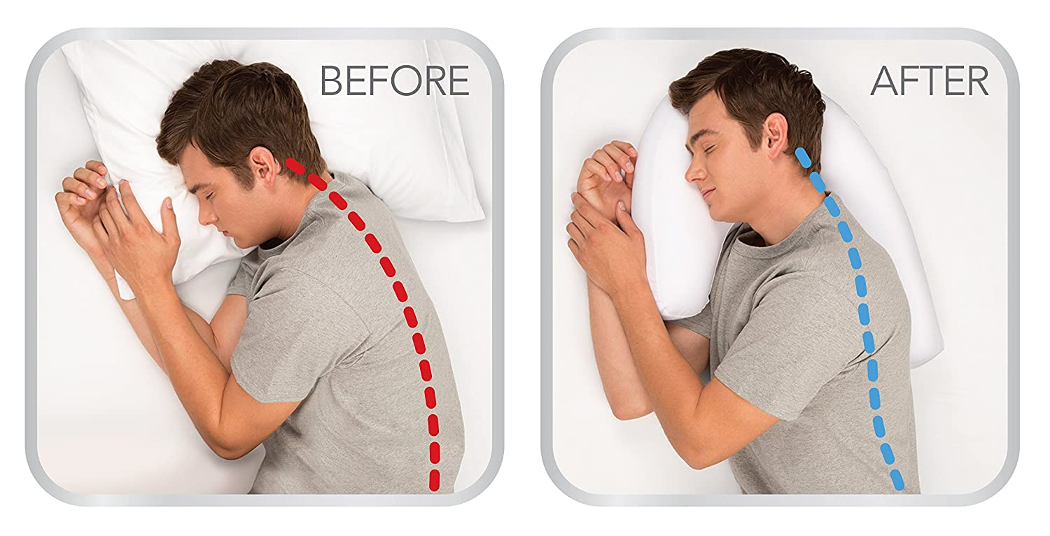 Man Shaped Pillow Amazoncom New Side Sleeper Pro Air Pillow As Seen On Tv Home