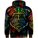 Ancient Aztec DMT Drug Trippy Hippie Psychedelic Full 3D Print Hoodie Sweaters