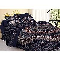 Tiger Exports Rajasthani Print Cotton Double Bedsheet