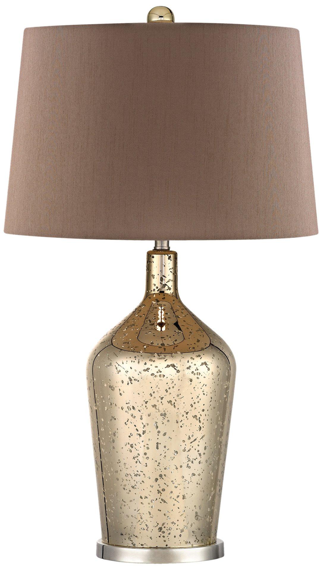 Dimond Lighting Antique Mercury Glass Bottle Lamp, Gold Antique