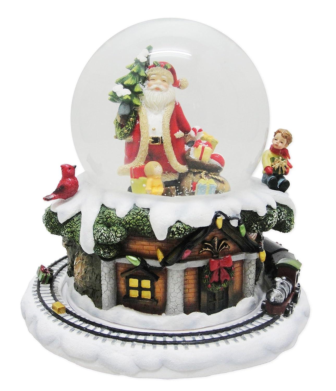 ★お求めやすく価格改定★ Musicbox Musicbox Kingdomサンタと雪ツリー&ギフトThe Train On The Outer Rim Around Turns Around B014L0WE4E whilst aクリスマスTuneは再生装飾アイテム B014L0WE4E, 多久市:390e2a6b --- irlandskayaliteratura.org
