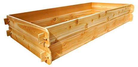 Timberlane Gardens Raised Bed Kit Double Deep (Two 3x6) Western Red Cedar  With Mortise