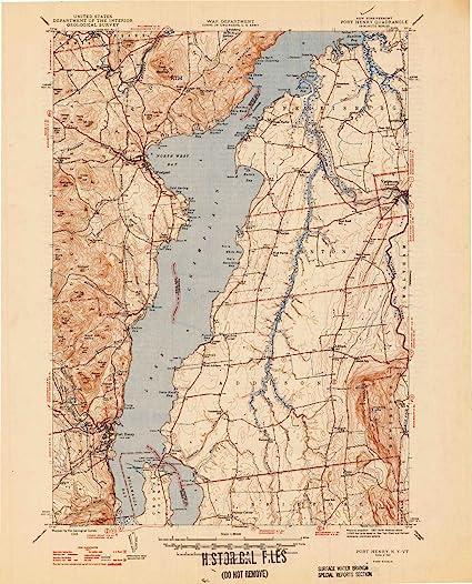 Amazon.com: YellowMaps Port Henry VT topo map, 1:62500 Scale, 15 X ...