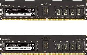 v-Color 64GB (2 x 32GB) Dual Rank 2Rx8 Server Memory Ram Module for Apple Mac Pro 2019 Upgrade DDR4 2933MHz (PC3-23400) ECC Registered DIMM 1.2V CL21 (VHA21ASDRAG8T-BG29RD)