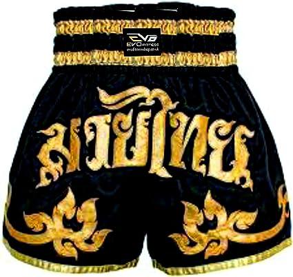 Evo Muay Thai Short de Combat Mma Kick Boxing Grappling Arts Martiaux Rouage UFC