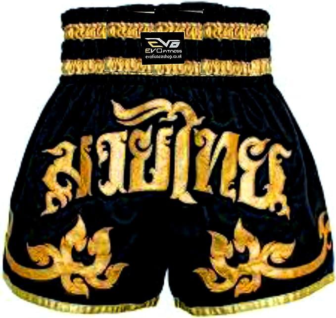 EVO Fitness - Pantalones cortos para Muay-Thai,