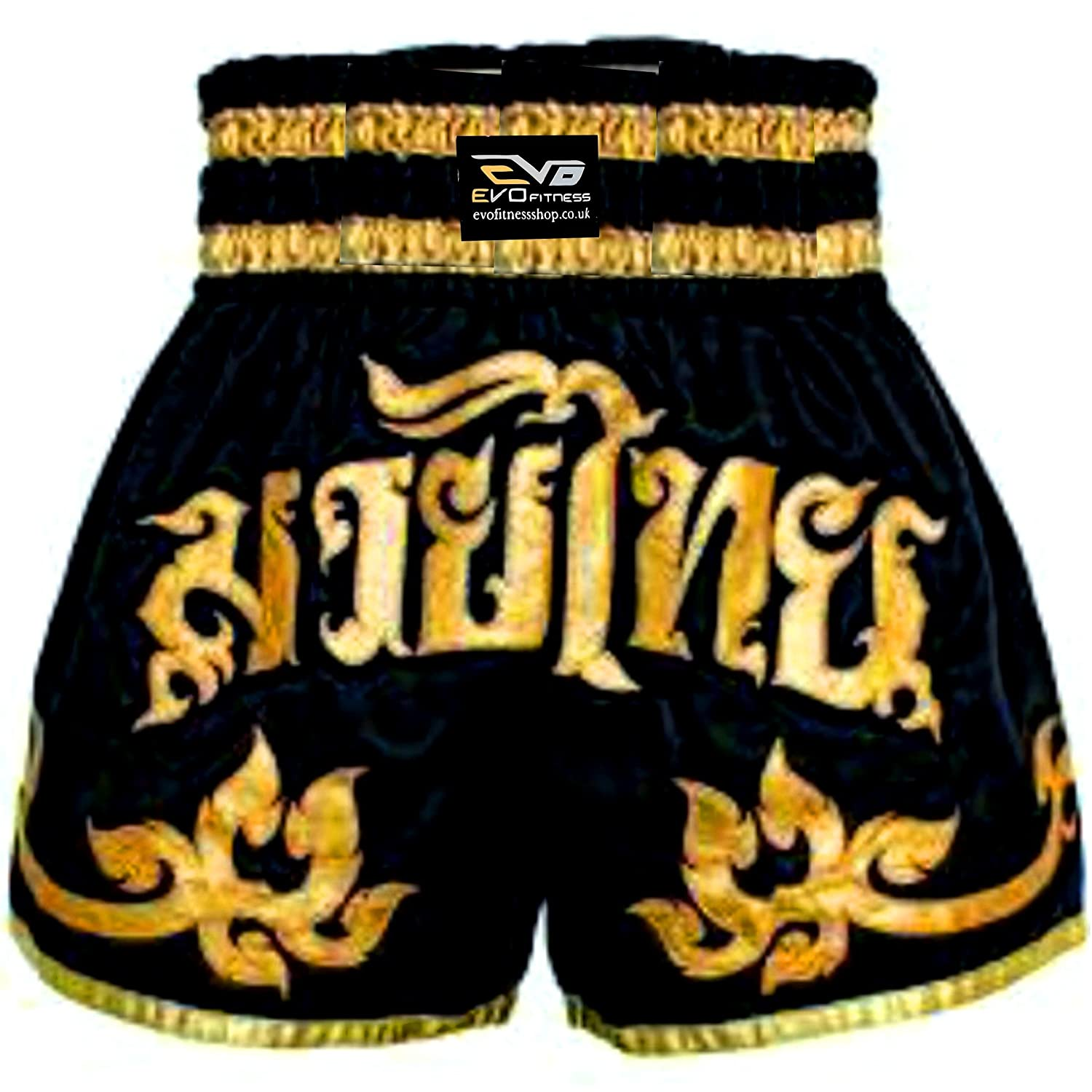 EVO Fitness Shorts De Muay Thai MMA Kick Boxing Arts Martiaux Combat Rouage