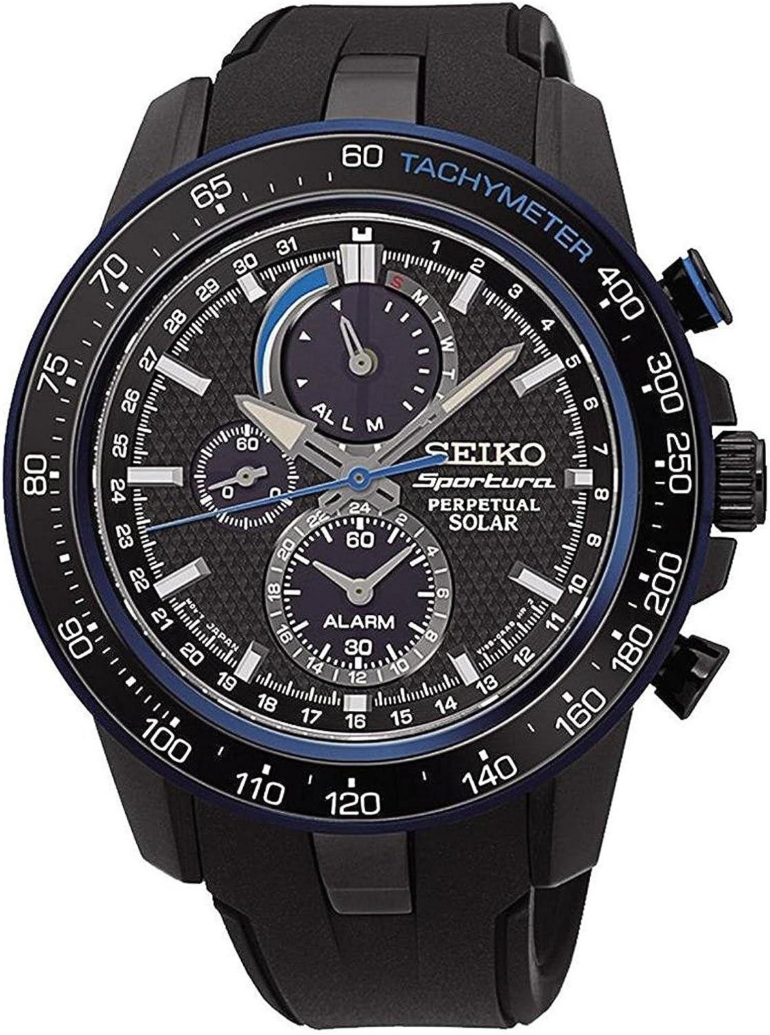 SeikoSSC429P1 –Reloj de Pulsera para Hombre, cronógrafo, Cuarzo, plástico