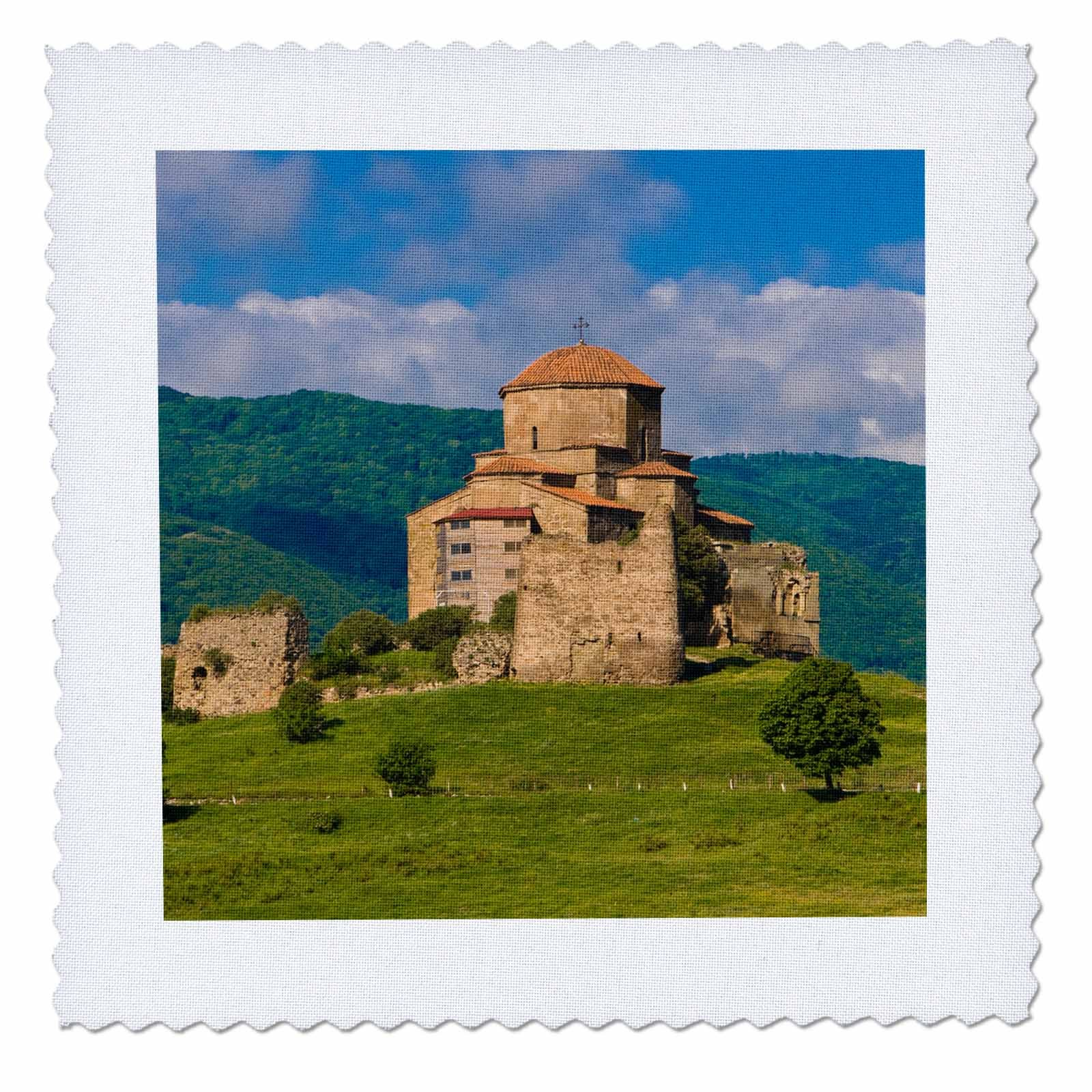 3dRose Danita Delimont - Churches - Jvari Monastery, Monastery of the Cross, Mtskheta, Georgia - 16x16 inch quilt square (qs_257173_6)
