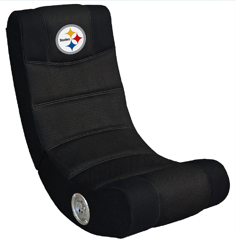 インペリアルNFL人間工学ビデオRocker Gaming Chair with 青tooth、マルチカラー、1サイズ Pittsburgh Steelers