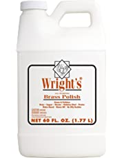 Wright's Brass Polish and Cleaner - 60 Ounce - Use On Brass Chrome Stainless Steel Pewter - Gently Clean and Remove Tarnish Without Scratching