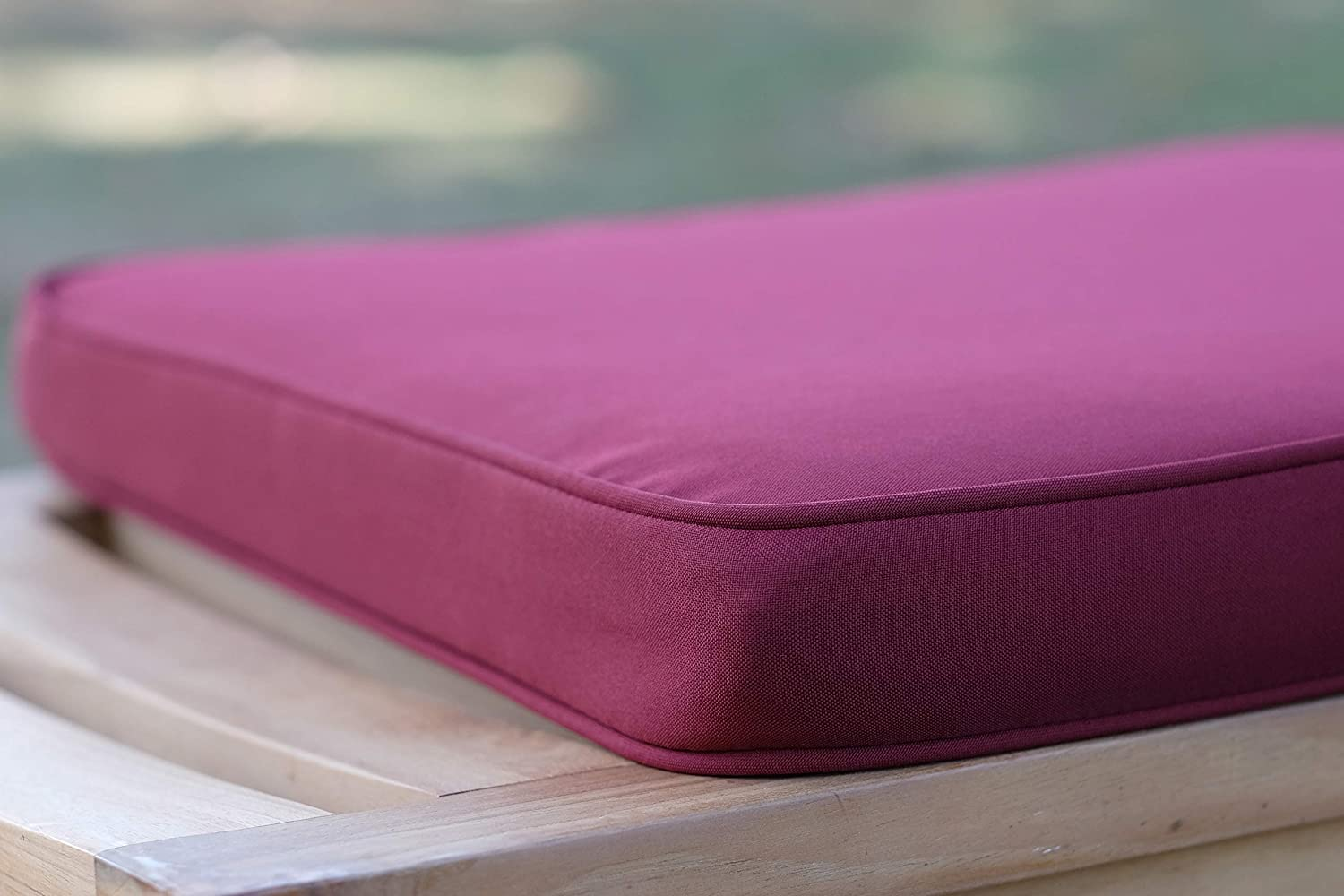 Pack of 2 Large Outdoors Chairs Cushions with Comfortable 50mm Foam Filling Burgundy Outdoor Seat Cushions Field /& Hawken Removable Quick Drying Garden Seat Cushions Covers for Easy Care and 180gsm Hard-Wearing Vibrant Colour Fabric