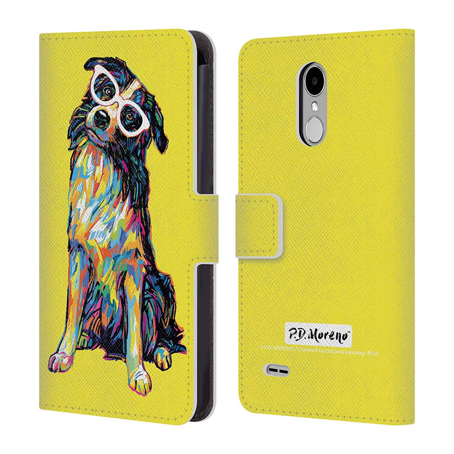 Official P.D. Moreno Border Collie Dogs Leather Book Wallet Case Cover Compatible for LG Stylus 3 / K10 Pro