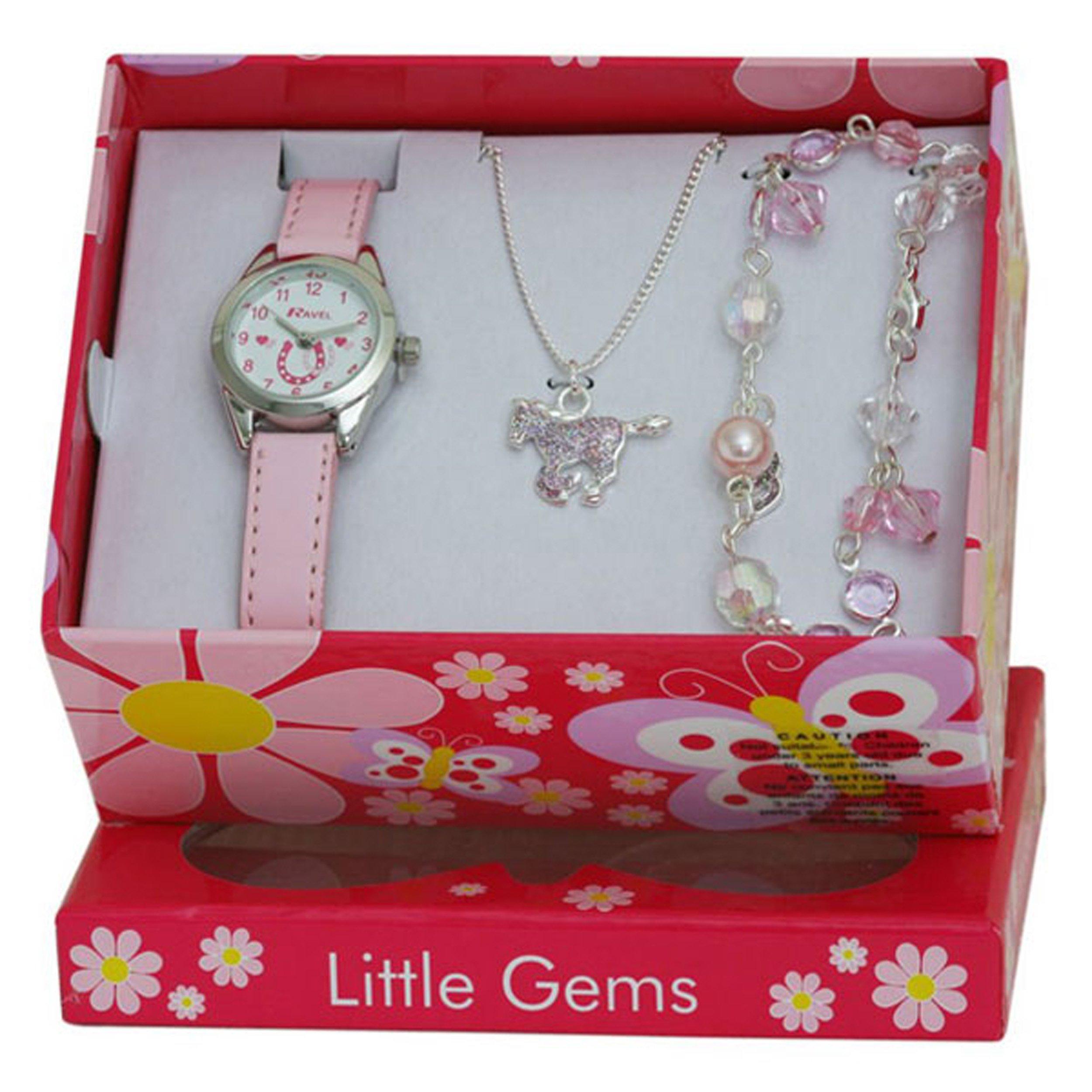 Ravel Little Gems Kids Horse Watch & Jewellery Gift Set For Girls R2213