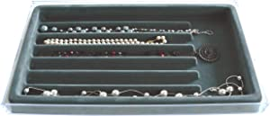 Necklace and Bracelet Jewelry Organizer with Velvet Tray, US Patented
