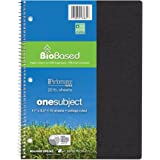 "Roaring Spring Environotes Notebook, One Subject, 11"" x 8.5"", 70 sheets, College Ruled, 20# BioBase Paper"