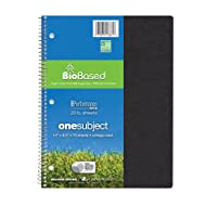 """Roaring Spring Environotes Notebook, One Subject, 11"""" x 8.5"""", 70 sheets, College Ruled, BioBase Paper, Assorted Earthtone Covers"""