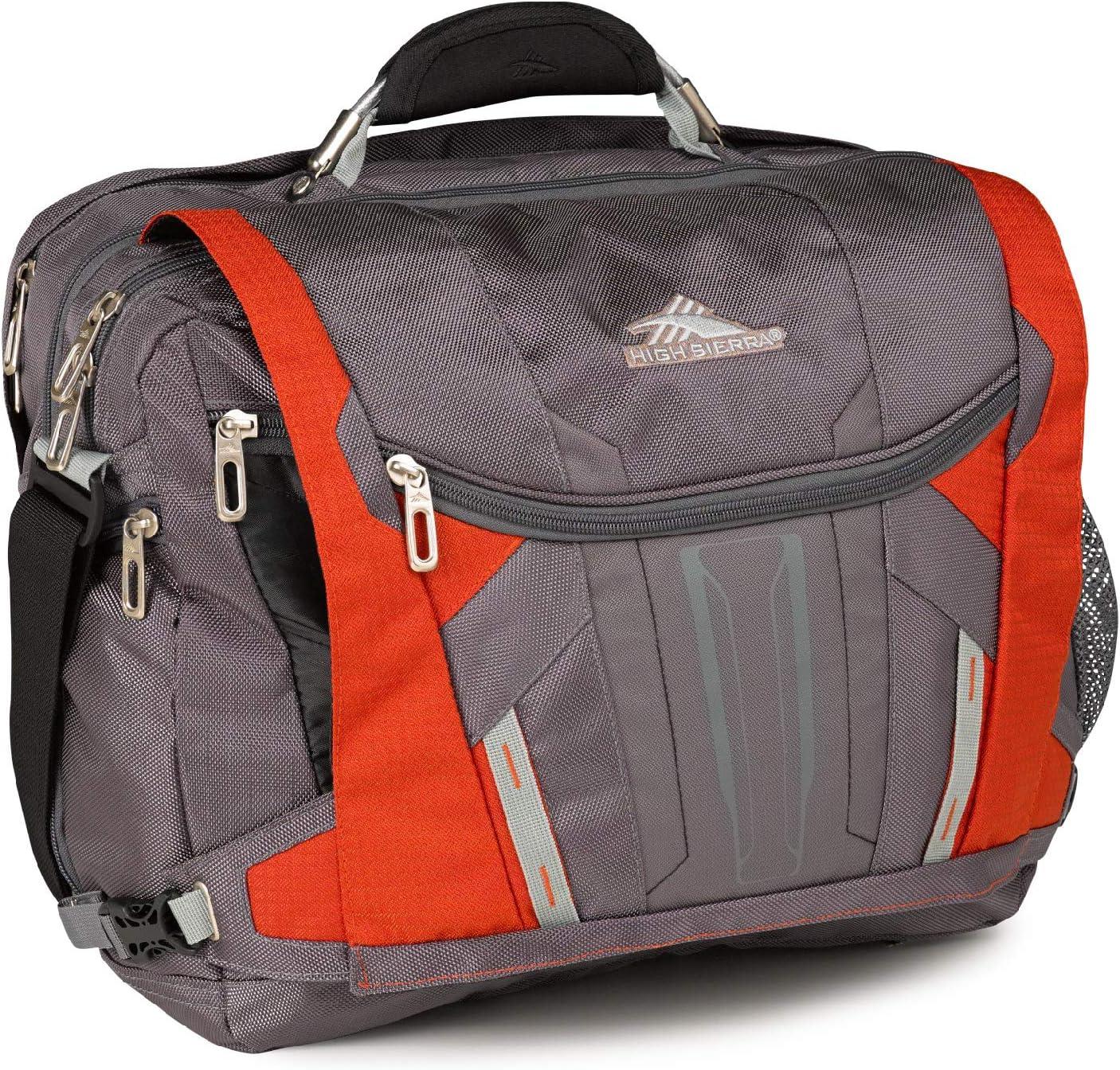 High Sierra XBT-Business Laptop Messenger Bag, Charcoal/Lava/Silver/Black, One Size