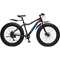 Marlin Bikes Aluminum-Alloy Fatbike Men Thor Bicycle, 26x4.9 inches (Thor Black/Blue/Red)