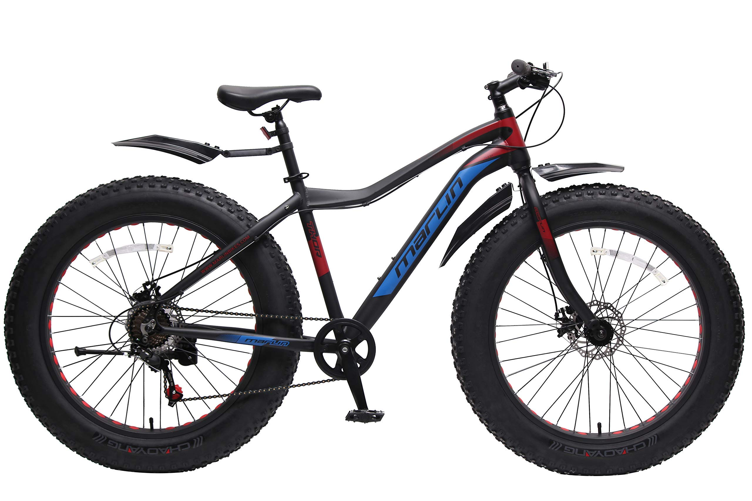 Marlin Bikes Aluminum-Alloy Fatbike Men Thor Bicycle, 26X4.9 Inches (Thor Black) product image