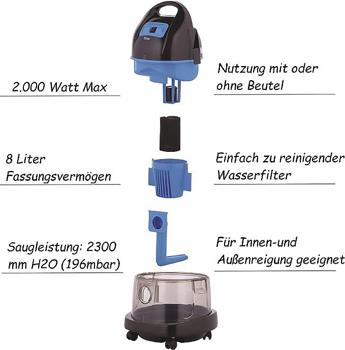 Aspiradora con filtro de agua, sin bolsa, agua Aspiradora | seco y ...