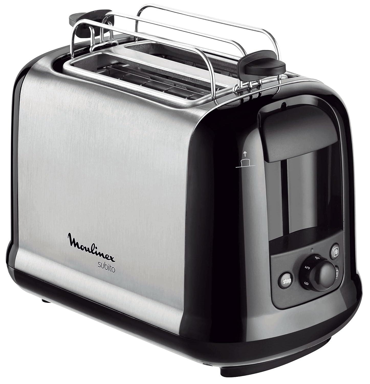 Moulinex LT2618 Tostadora, 850 W, acero inoxidable, color gris y negro
