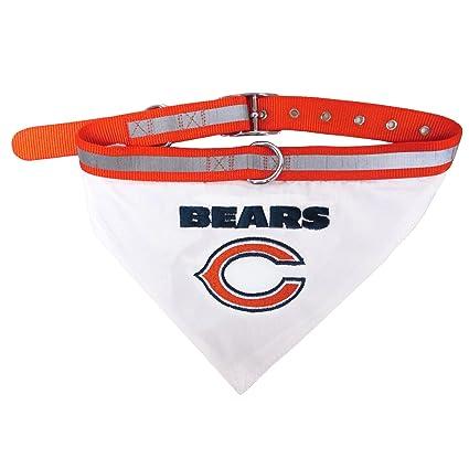 8f0eb7b3b05 NFL BANDANA - CHICAGO BEARS PET BANDANA with Reflective & Adjustable PET  COLLAR, Large