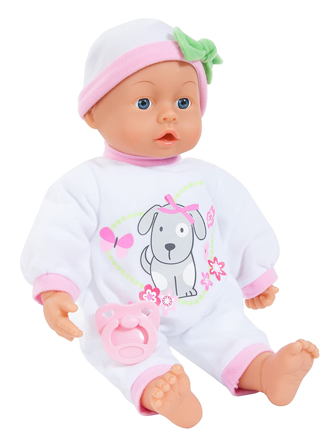 Bayer Design 9386500 38 cm First Words Baby with 24 Sounds and Pacifier Function Doll