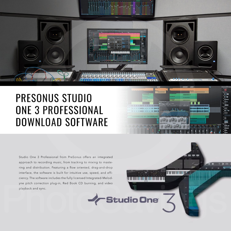 PreSonus AudioBox 96 Studio Plus Recording Kit with Studio One Software and PreSonus Eris E3.5 Multimedia Reference Monitors Bundle Pair