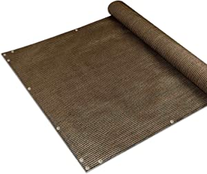 E&K Sunrise3' x 15' Privacy Fence Screen Mesh for Balcony Porch Deck Outdoor Protection Fencing Shield Net Patio Pool Backyard RailsBalcony-Brown-200GSM-Customized